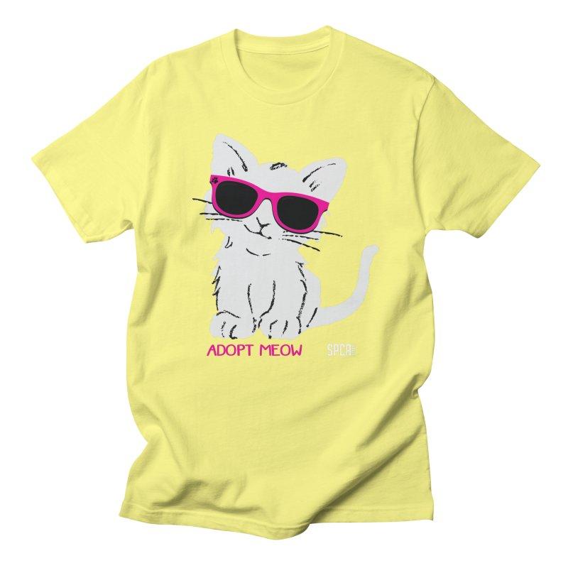 Adopt Meow Women's Regular Unisex T-Shirt by SPCA of Texas' Artist Shop