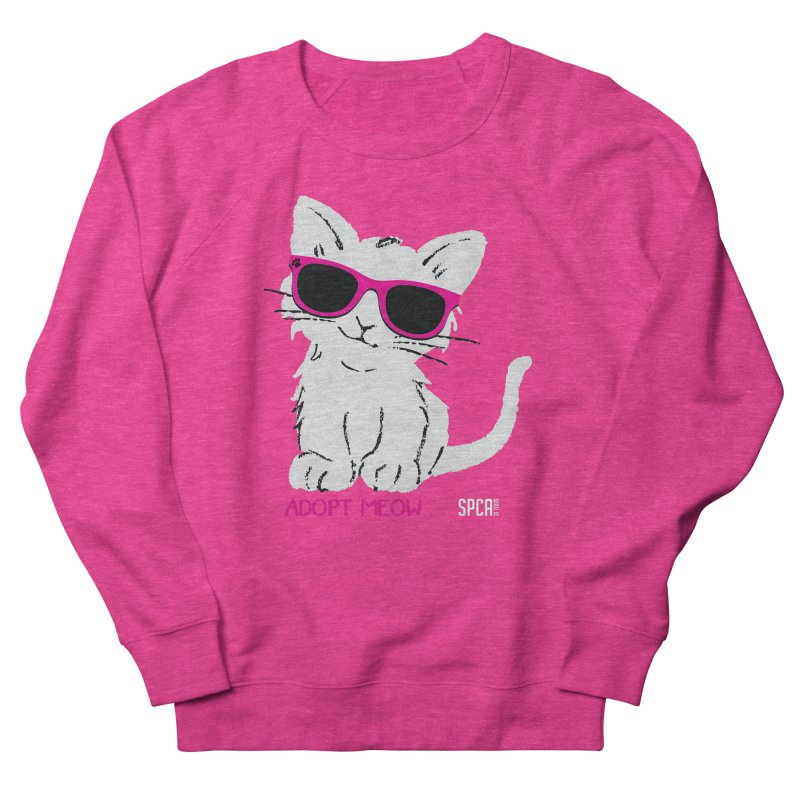 Adopt Meow Women's French Terry Sweatshirt by SPCA of Texas' Artist Shop
