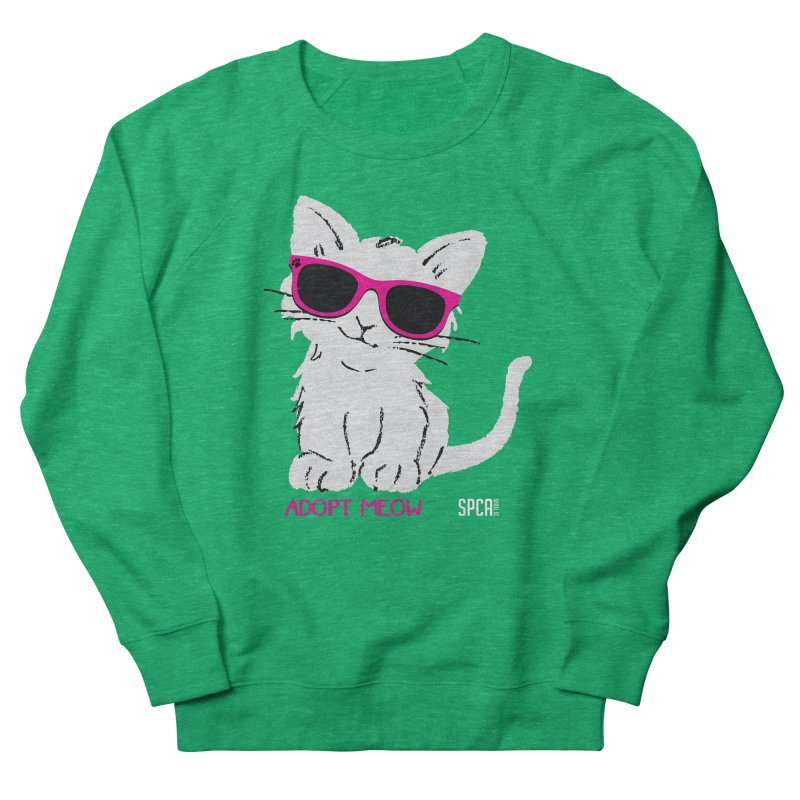 Adopt Meow Men's French Terry Sweatshirt by SPCA of Texas' Artist Shop