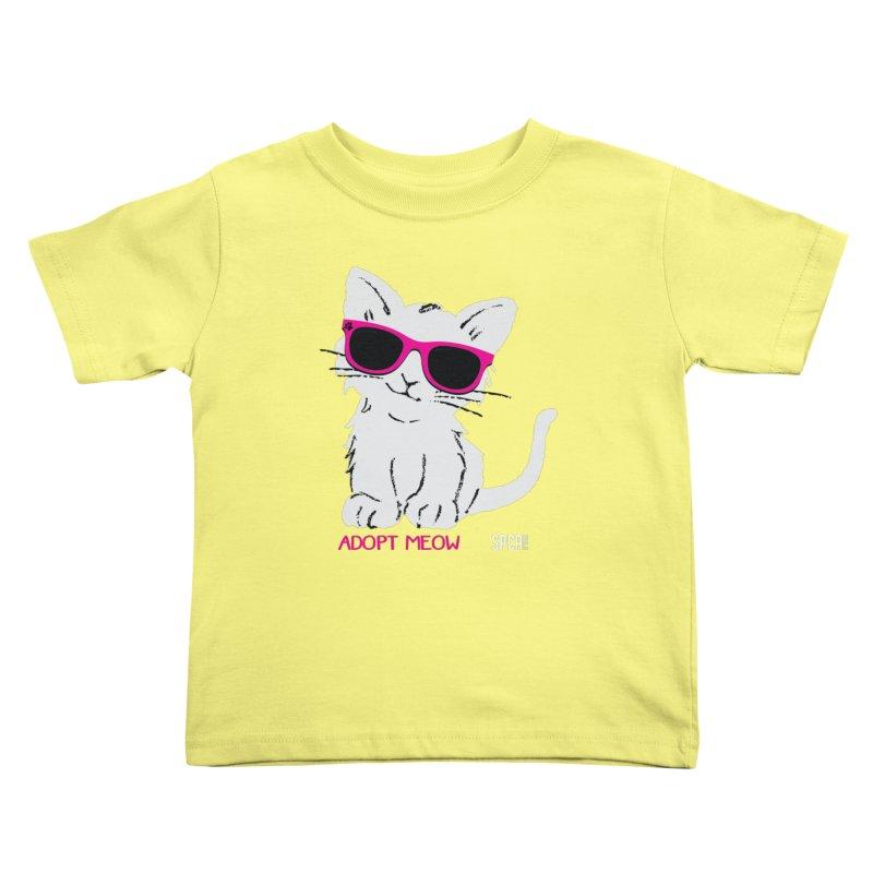 Adopt Meow Kids Toddler T-Shirt by SPCA of Texas' Artist Shop