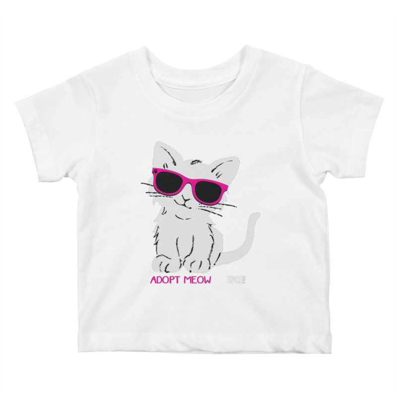 Adopt Meow Kids Baby T-Shirt by SPCA of Texas' Artist Shop