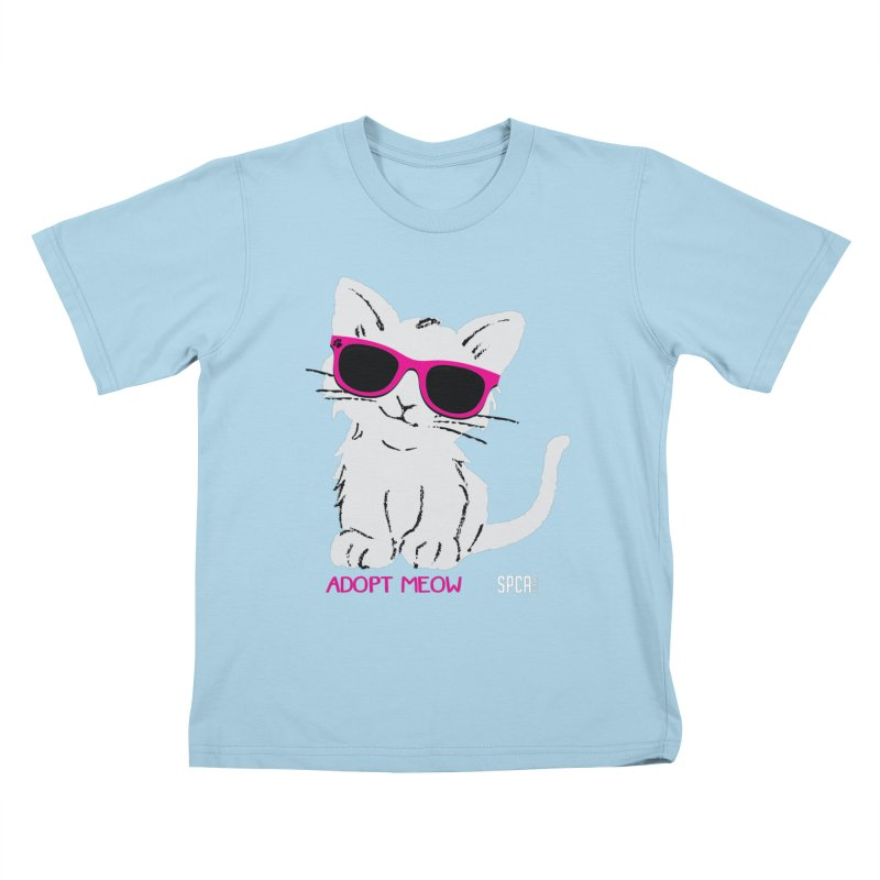 Adopt Meow Kids T-Shirt by SPCA of Texas' Artist Shop