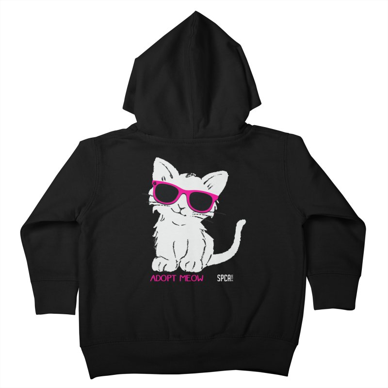 Adopt Meow Kids Toddler Zip-Up Hoody by SPCA of Texas' Artist Shop