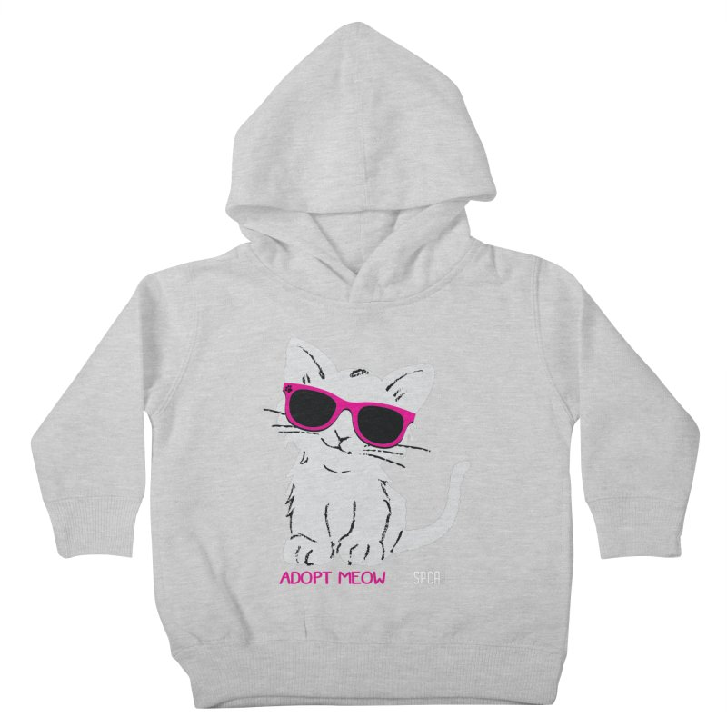 Adopt Meow Kids Toddler Pullover Hoody by SPCA of Texas' Artist Shop