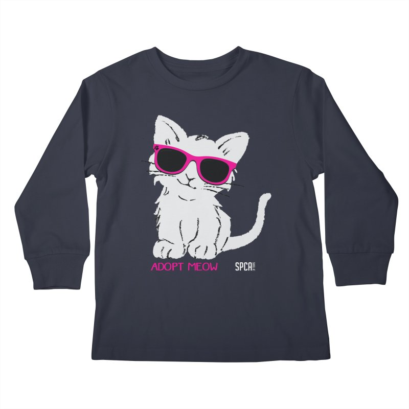 Adopt Meow Kids Longsleeve T-Shirt by SPCA of Texas' Artist Shop