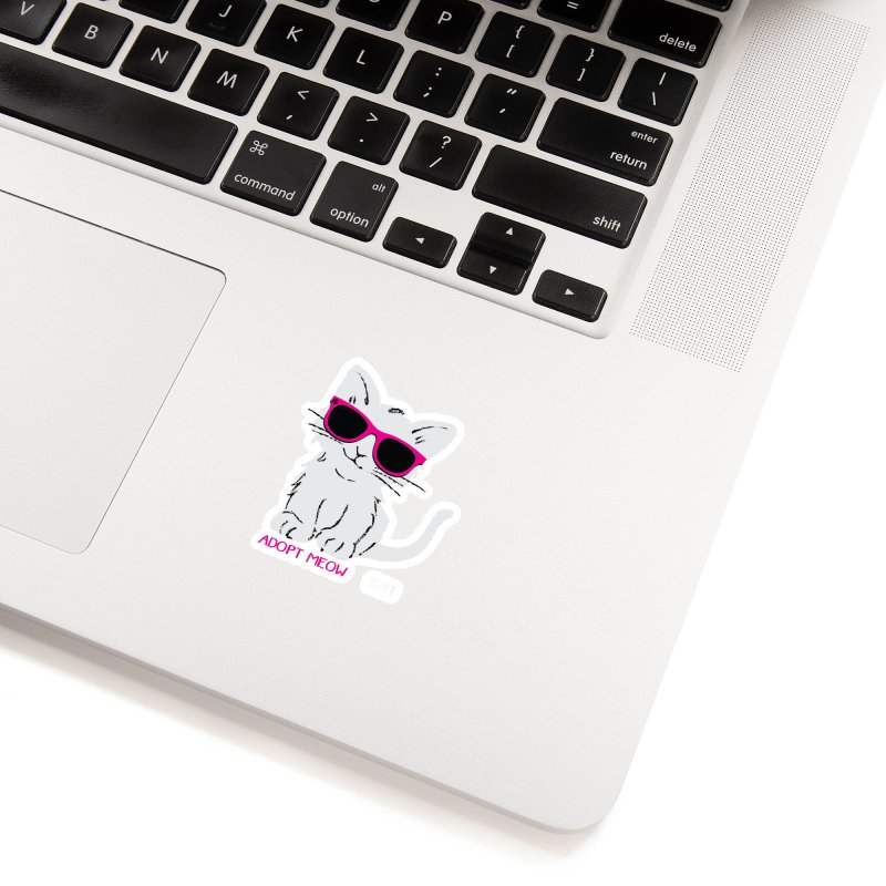 Adopt Meow Accessories Sticker by SPCA of Texas' Artist Shop