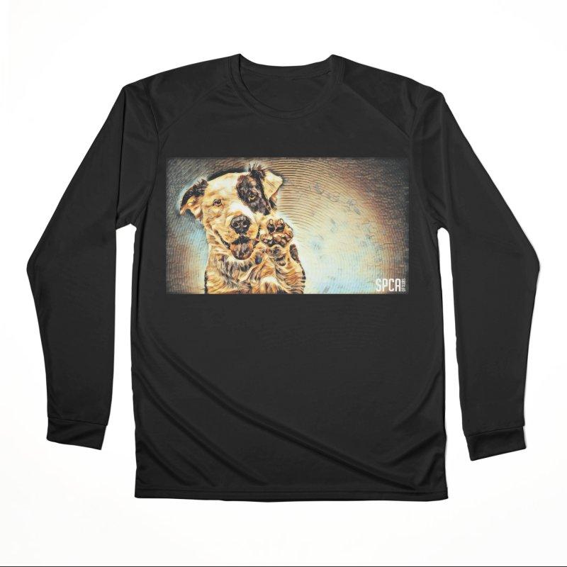 High Five Men's Performance Longsleeve T-Shirt by SPCA of Texas' Artist Shop