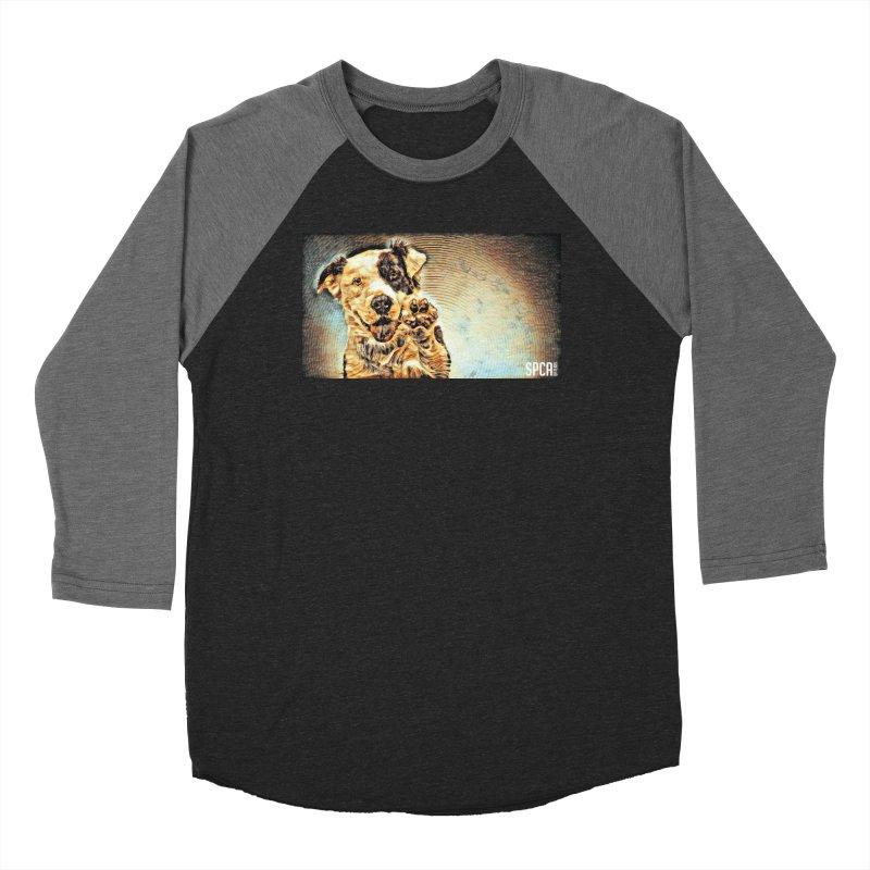 High Five Men's Baseball Triblend Longsleeve T-Shirt by SPCA of Texas' Artist Shop