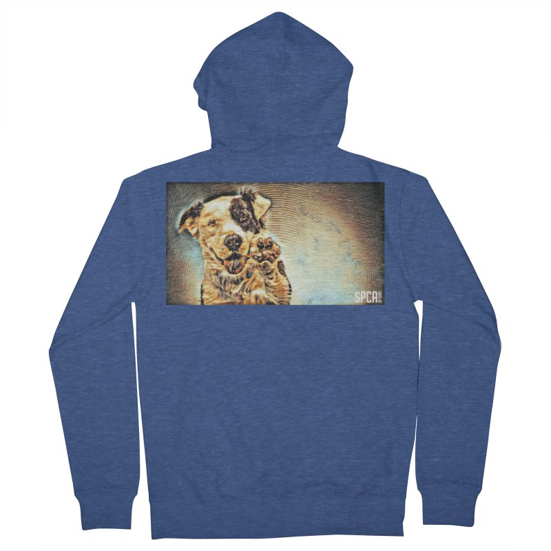 High Five Women's French Terry Zip-Up Hoody by SPCA of Texas' Artist Shop