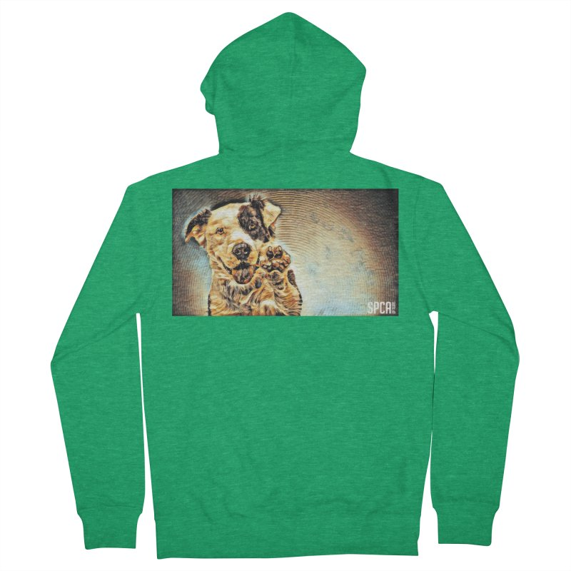 High Five Men's French Terry Zip-Up Hoody by SPCA of Texas' Artist Shop