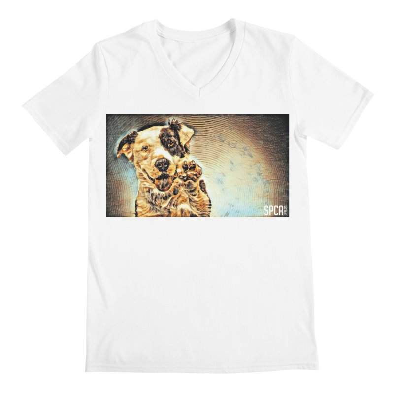 High Five Men's V-Neck by SPCA of Texas' Artist Shop
