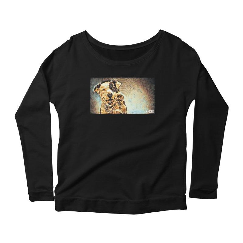 High Five Women's Scoop Neck Longsleeve T-Shirt by SPCA of Texas' Artist Shop