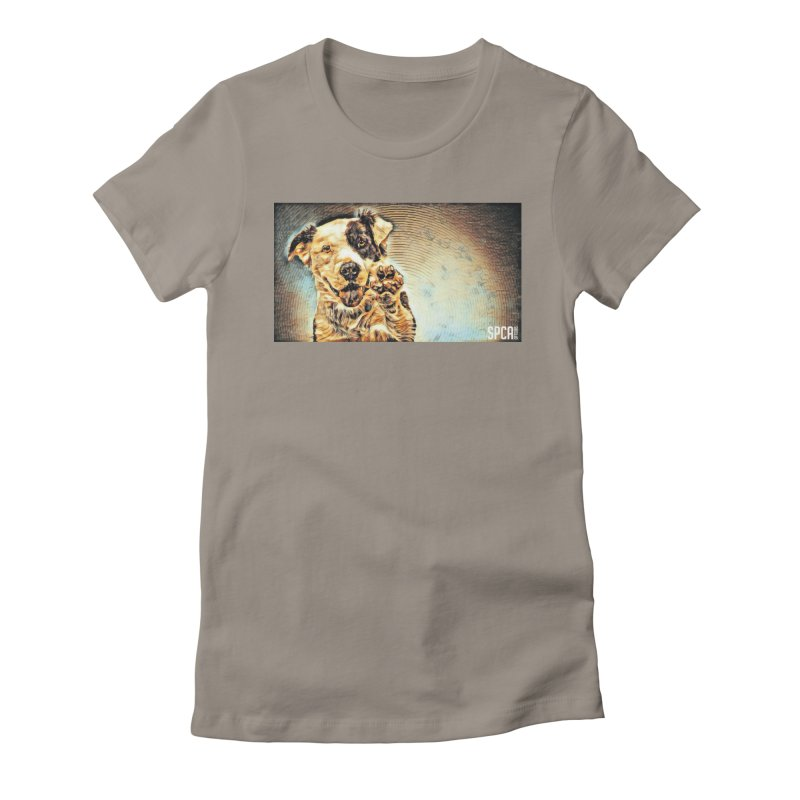 High Five Women's Fitted T-Shirt by SPCA of Texas' Artist Shop
