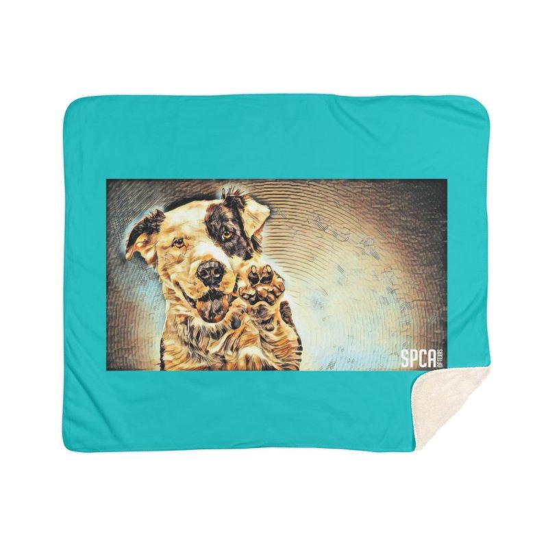High Five Home Sherpa Blanket Blanket by SPCA of Texas' Artist Shop