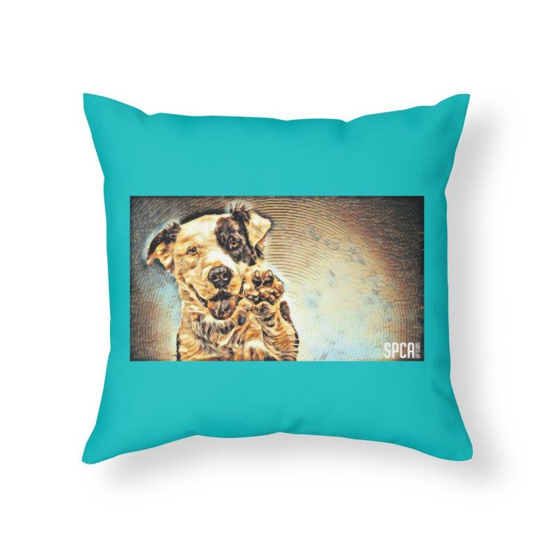 High Five Home Throw Pillow by SPCA of Texas' Artist Shop