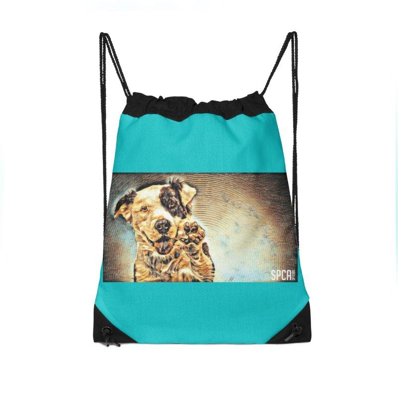High Five Accessories Drawstring Bag Bag by SPCA of Texas' Artist Shop