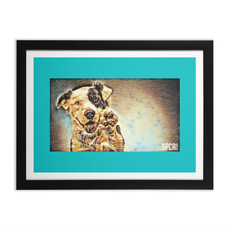 High Five Home Framed Fine Art Print by SPCA of Texas' Artist Shop