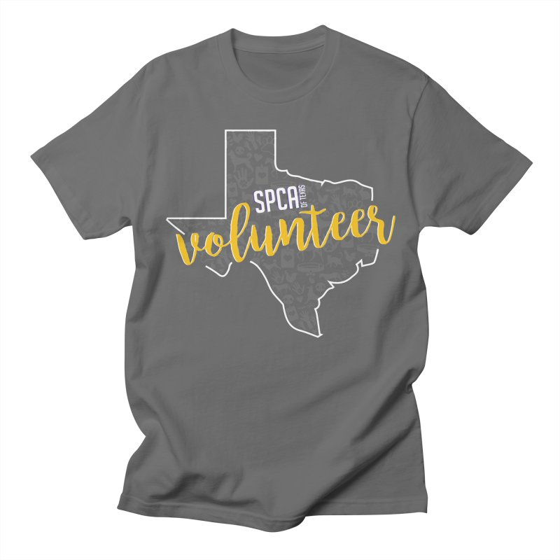 Volunteers Rock! Men's T-Shirt by SPCA of Texas' Artist Shop