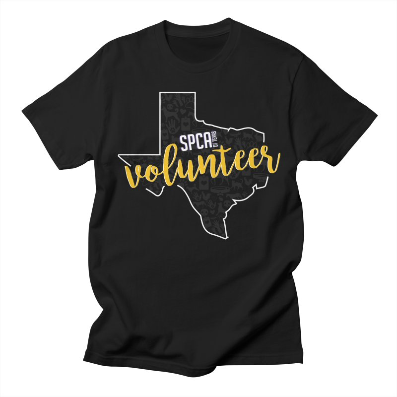 Volunteers Rock! Men's Regular T-Shirt by SPCA of Texas' Artist Shop