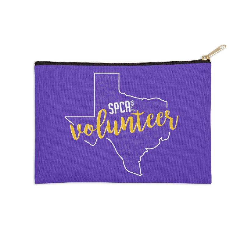 Volunteers Rock! Accessories Zip Pouch by SPCA of Texas' Artist Shop