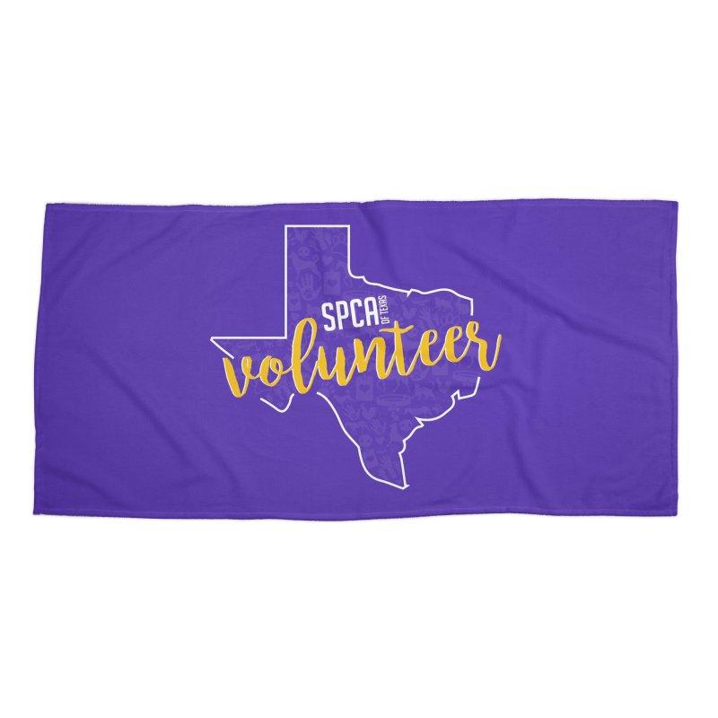 Volunteers Rock! Accessories Beach Towel by SPCA of Texas' Artist Shop