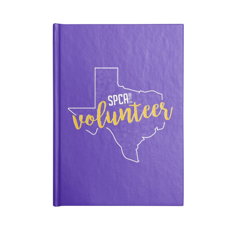 Volunteers Rock! Accessories Lined Journal Notebook by SPCA of Texas' Artist Shop