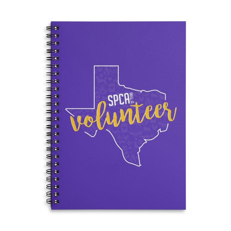 Volunteers Rock! Accessories Lined Spiral Notebook by SPCA of Texas' Artist Shop