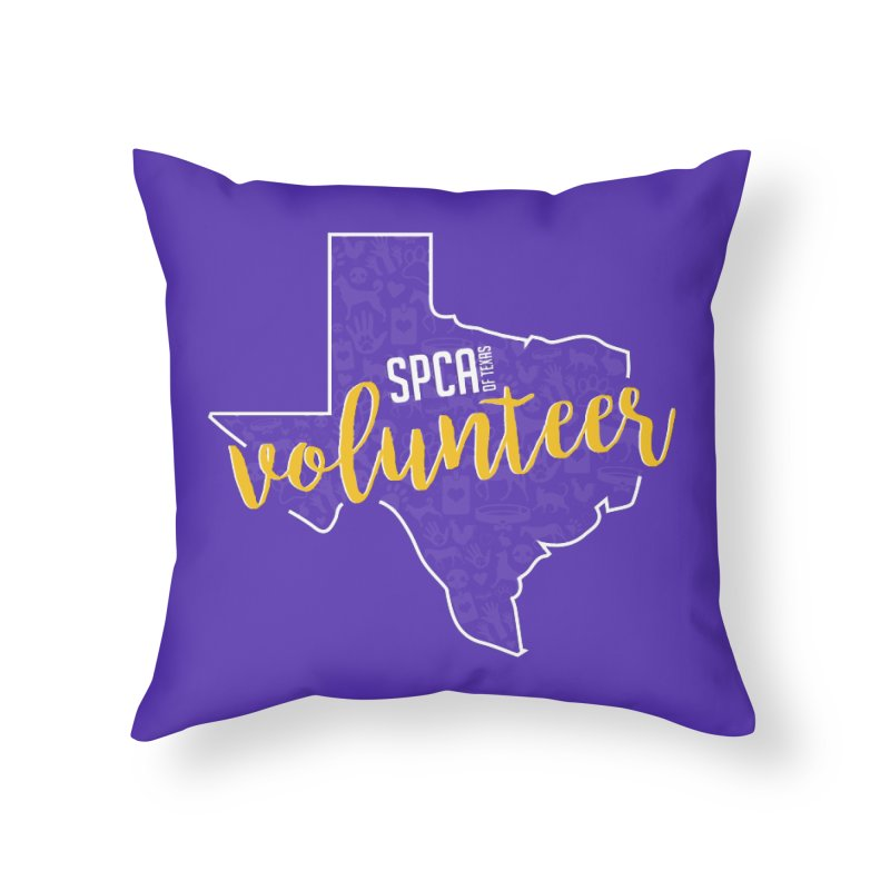 Volunteers Rock! Home Throw Pillow by SPCA of Texas' Artist Shop