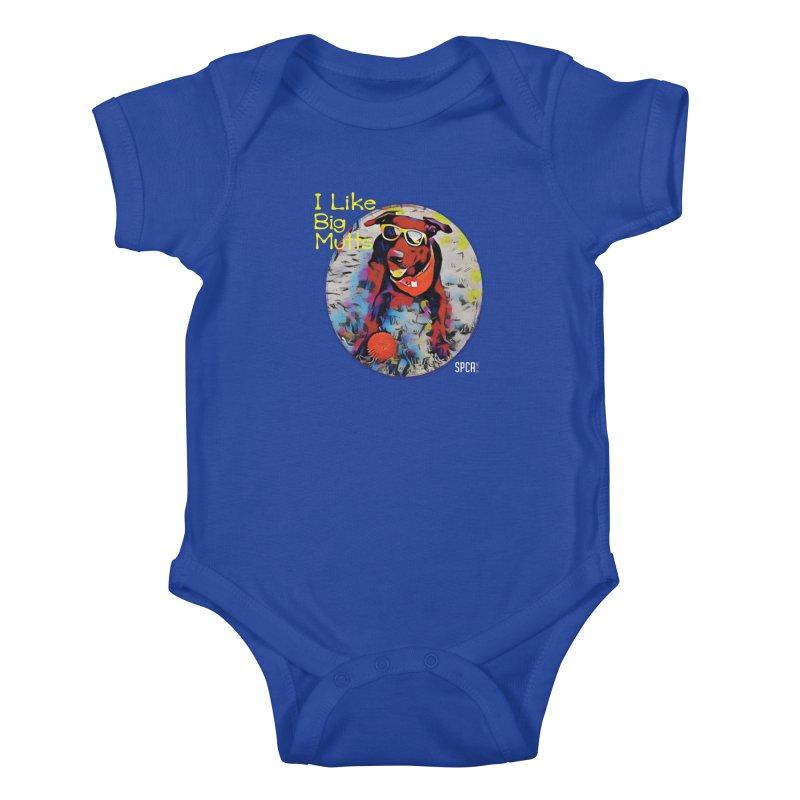 I like Big Mutts Kids Baby Bodysuit by SPCA of Texas' Artist Shop