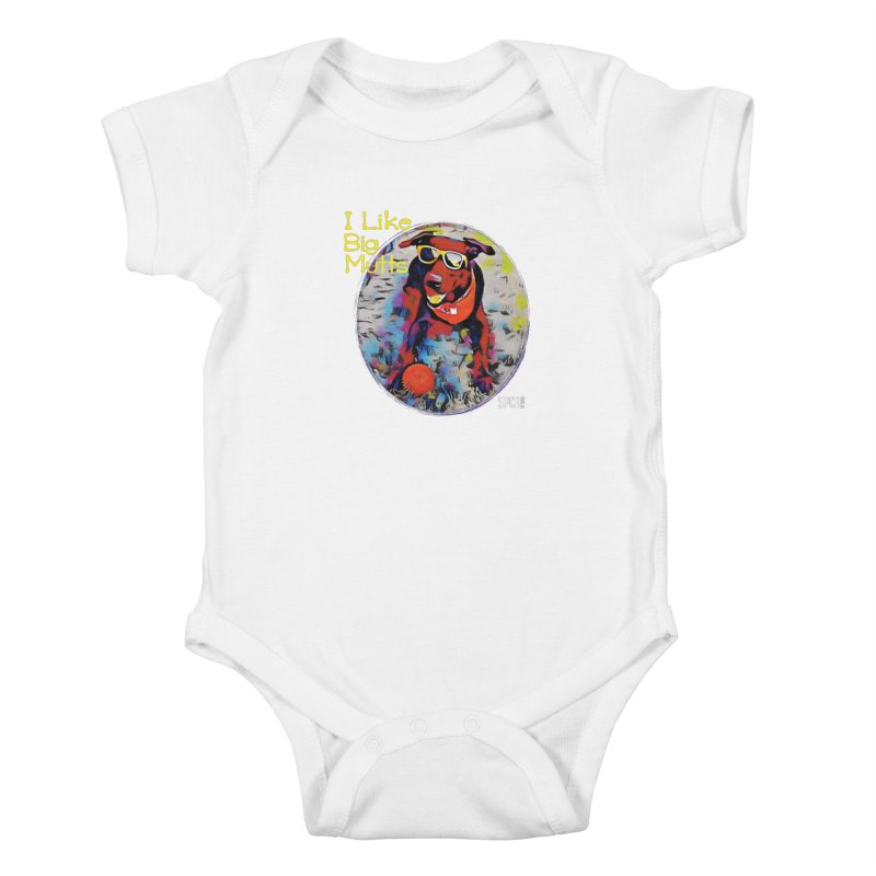 I like Big Mutts Kids Baby Bodysuit by SPCA of Texas' Artist Shop