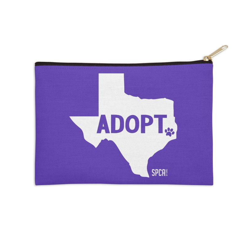 Texas Adopts! Accessories Zip Pouch by SPCA of Texas' Artist Shop