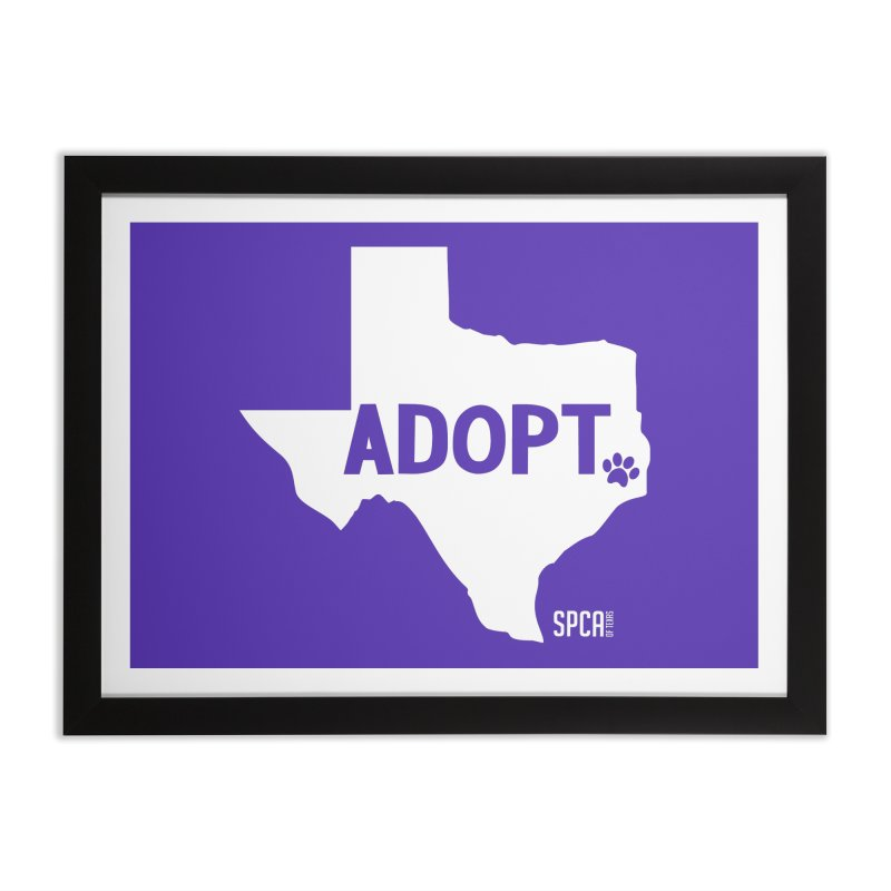 Texas Adopts! Home Framed Fine Art Print by SPCA of Texas' Artist Shop