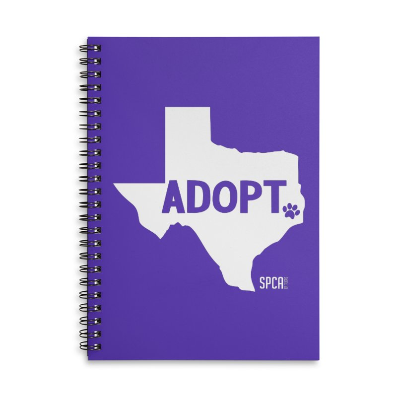 Texas Adopts! Accessories Lined Spiral Notebook by SPCA of Texas' Artist Shop
