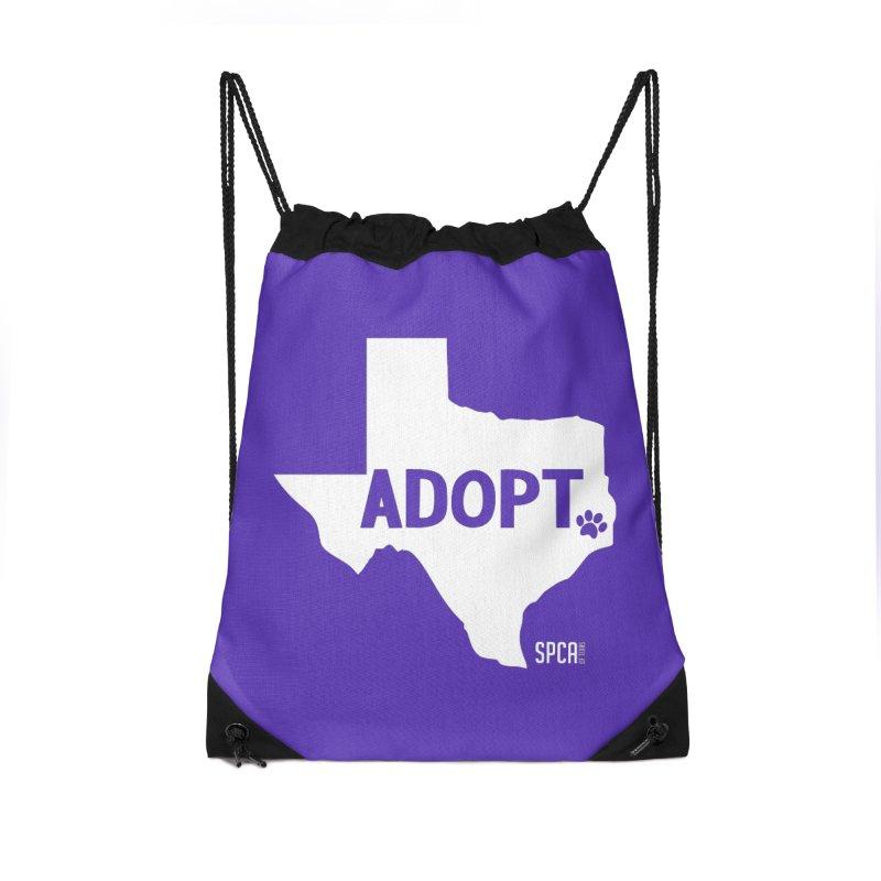 Texas Adopts! Accessories Drawstring Bag Bag by SPCA of Texas' Artist Shop