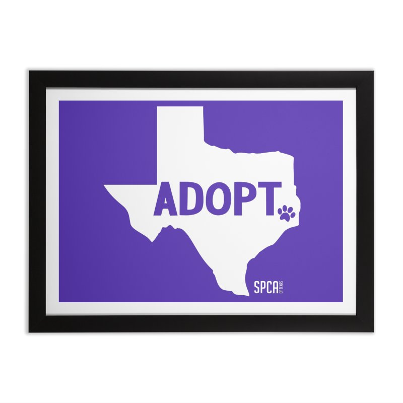 Texas Adopts! Home Framed Fine Art Print by SPCA of Texas' Artist Shop