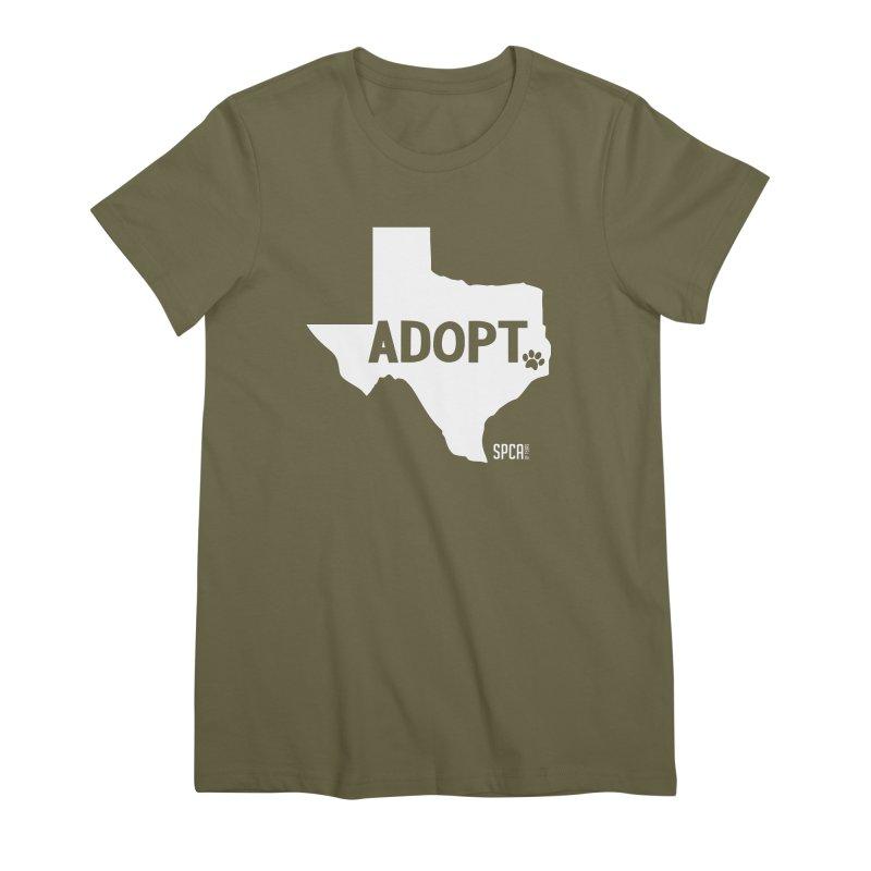 Texas Adopts! Women's Premium T-Shirt by SPCA of Texas' Artist Shop