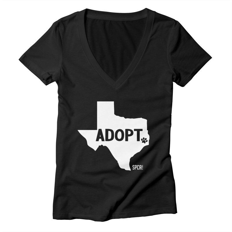 Texas Adopts! Women's V-Neck by SPCA of Texas' Artist Shop