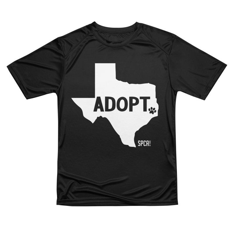 Texas Adopts! Men's Performance T-Shirt by SPCA of Texas' Artist Shop