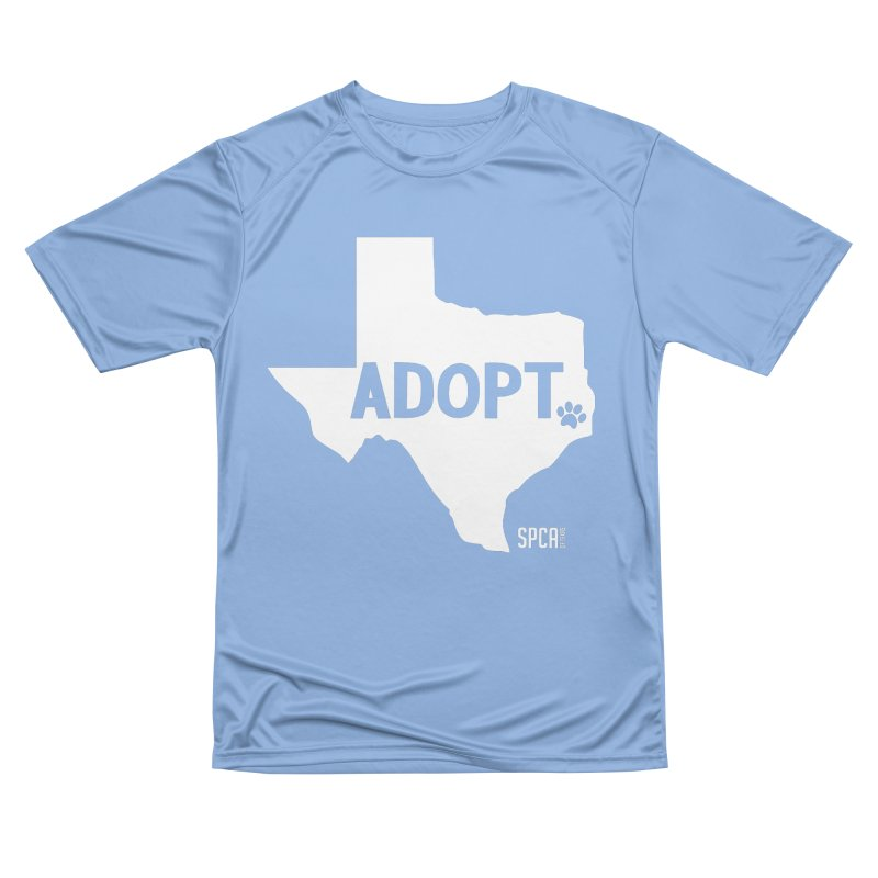 Texas Adopts! Men's Performance T-Shirt by SPCA of Texas' Artist Shop