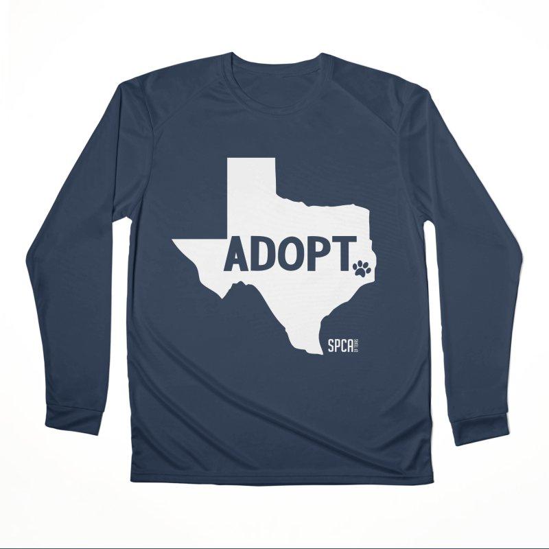 Texas Adopts! Men's Performance Longsleeve T-Shirt by SPCA of Texas' Artist Shop