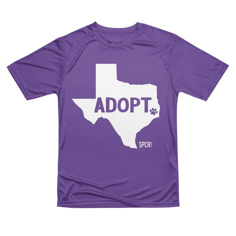 Texas Adopts! Women's Performance Unisex T-Shirt by SPCA of Texas' Artist Shop