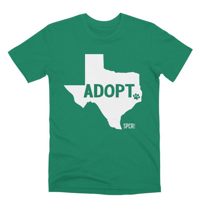 Texas Adopts! Men's Premium T-Shirt by SPCA of Texas' Artist Shop