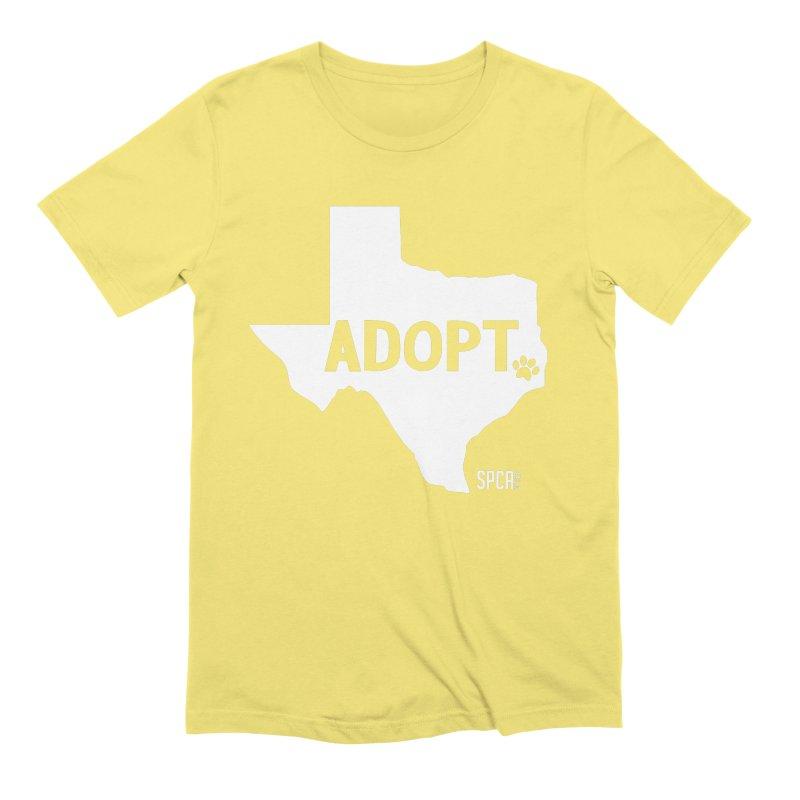 Texas Adopts! Men's Extra Soft T-Shirt by SPCA of Texas' Artist Shop