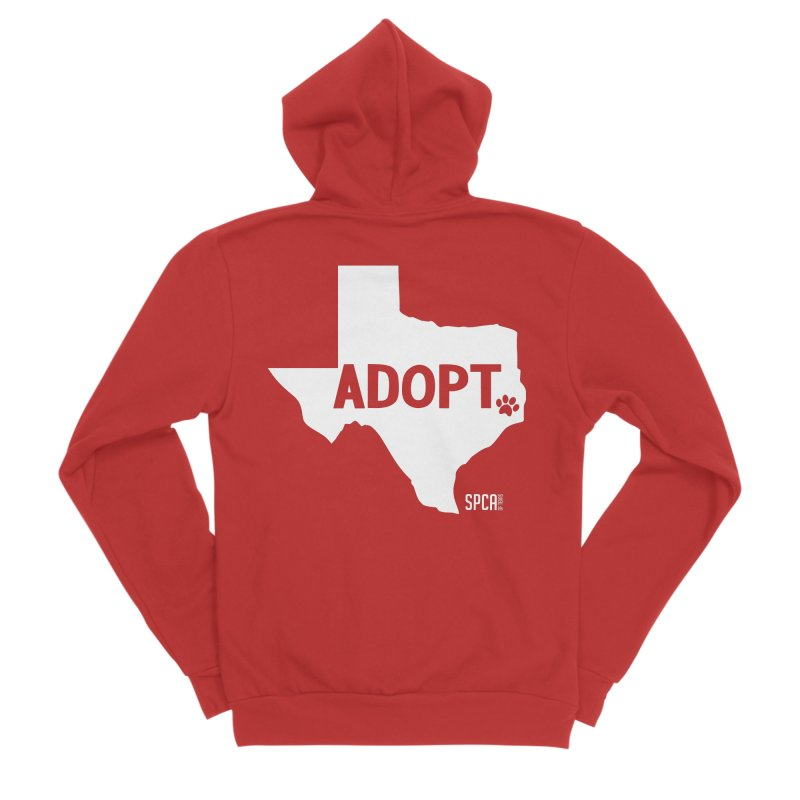 Texas Adopts! Women's Zip-Up Hoody by SPCA of Texas' Artist Shop