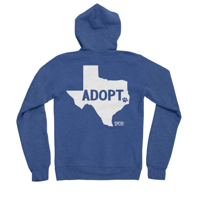 Texas Adopts! Men's Sponge Fleece Zip-Up Hoody by SPCA of Texas' Artist Shop