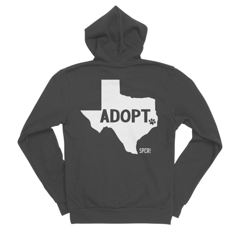Texas Adopts! Men's Sponge Fleece Zip-Up Hoody by SPCA of Texas' Artist Shop