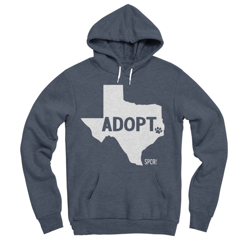 Texas Adopts! Men's Sponge Fleece Pullover Hoody by SPCA of Texas' Artist Shop