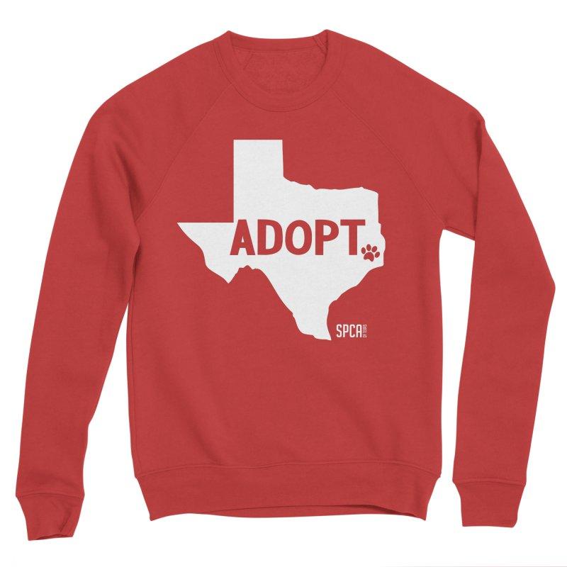 Texas Adopts! Men's Sponge Fleece Sweatshirt by SPCA of Texas' Artist Shop