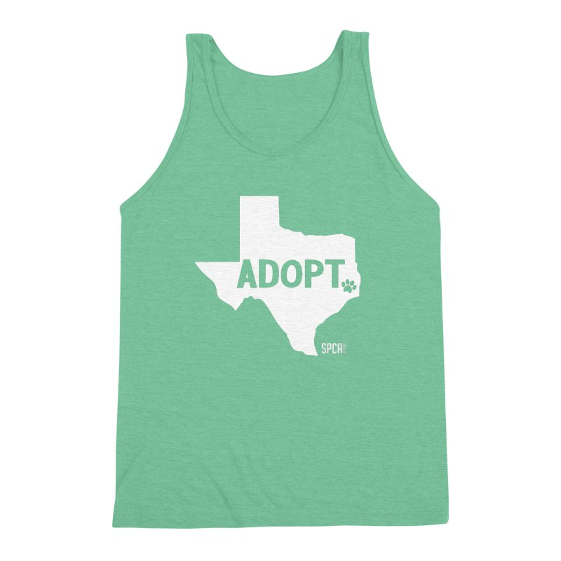 Texas Adopts! Men's Triblend Tank by SPCA of Texas' Artist Shop