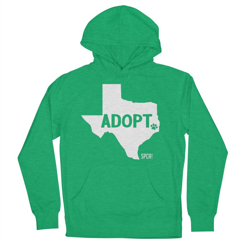 Texas Adopts! Men's French Terry Pullover Hoody by SPCA of Texas' Artist Shop